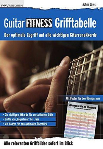 Guitar Fitness Grifftabelle: Der optimale Zugriff auf alle wichtigen Gitarrenakkorde (Fitnessreihe)