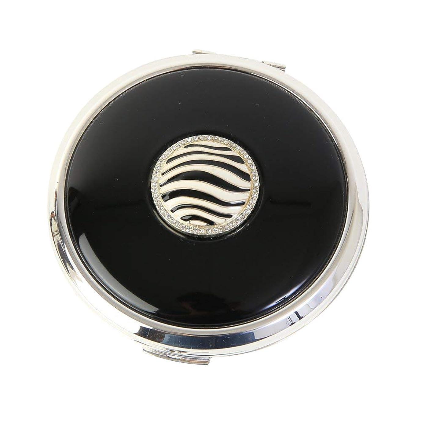 ピルファー肉屋交差点Stratton ストラットン コンパクト コンバーティブル おしろいケース&ミラー ブラック Zebra ST1118