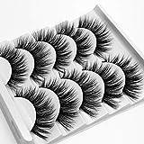 5 Pairs Faux Mink Hair False Eyelashes,Woman's Natural Voluminous Handmade Extension Tools