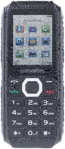 simvalley MOBILE Dual SIM Outdoor Handys: Outdoor-Dual-SIM-Handy, Powerbank-Akku 4400mAh, IP67, 30 Tage Stand-by (Baustellen Handy)