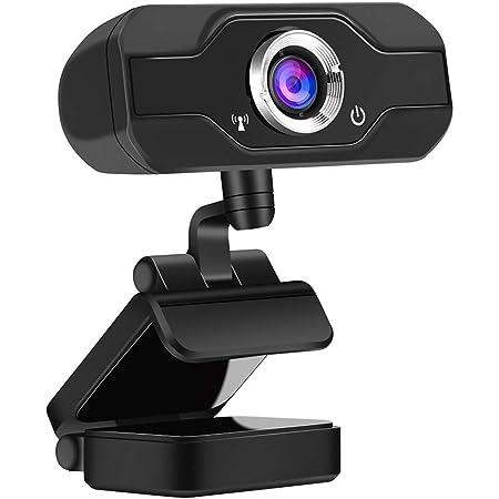 Aibecy ウェブカメラ 1080P 30fps フルHD Webカメラ 200万画素 固定焦点 自動光補正 PCラップトップ デスクトップ マイク付き 6mピックアップ距離 360度回転 USB2.0ビデオカメラ タカメラ 録画 会議 ゲーム 1080Pビデオ通話用