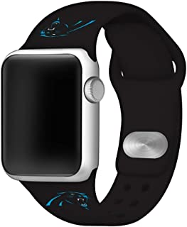 Game Time Carolina Panthers Silicone Sport Band Compatible with Apple Watch - Band ONLY (42mm/44mm)
