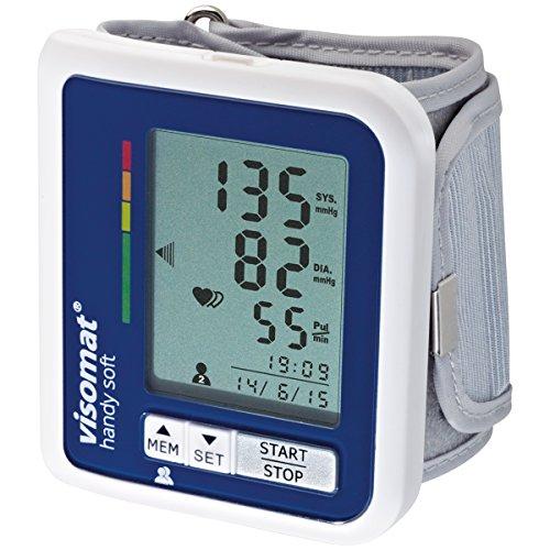 Visomat Handy Soft - Tensiómetro de muñeca, con batería y adaptador de corriente