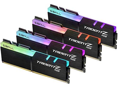 Mémoire PC - G.Skill Trident Z RGB 32 Go (4X 8 Go) DDR4 3000 MHz CL15 - Kit Dual Channel 4 Barrettes de RAM DDR4 PC4-24000 - F4-3000C15Q-32GTZR Avec LED RGB (garantie 10 ANS par G.Skill)