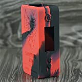 Silicone Case for SnowWolf Mini 75w Temp Control Snow Wolf Mini Sleeve Cover Skin Wrap (Red/Black)