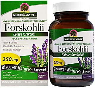 Nature's Answer, Forskohlii, 250 mg, 60 Vegetarian Capsules