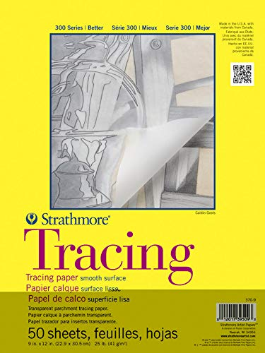 Strathmore 370-9 300 Series Tracing Pad, 9'x12' Tape Bound, 50 Sheets