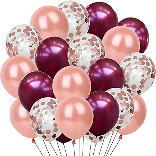Palloncini Elio Oro Rosa Colorati Matrimonio Addobbi Compleanno Confetti Balloon Palloncini Gold Bianco Champagne Nascita Bambina Battesimo Bimba Decorazioni per Festa Compleanno 30 Pezzi