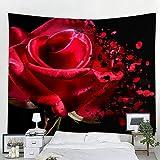 haoyunlai Gran tapicería Rose Pared Colgante decoración Bohemia Playa Toalla Fina Manta Yoga mantón Estera de Viaje Tela de Pared sofá Cubierta-Rojo_180 * 180