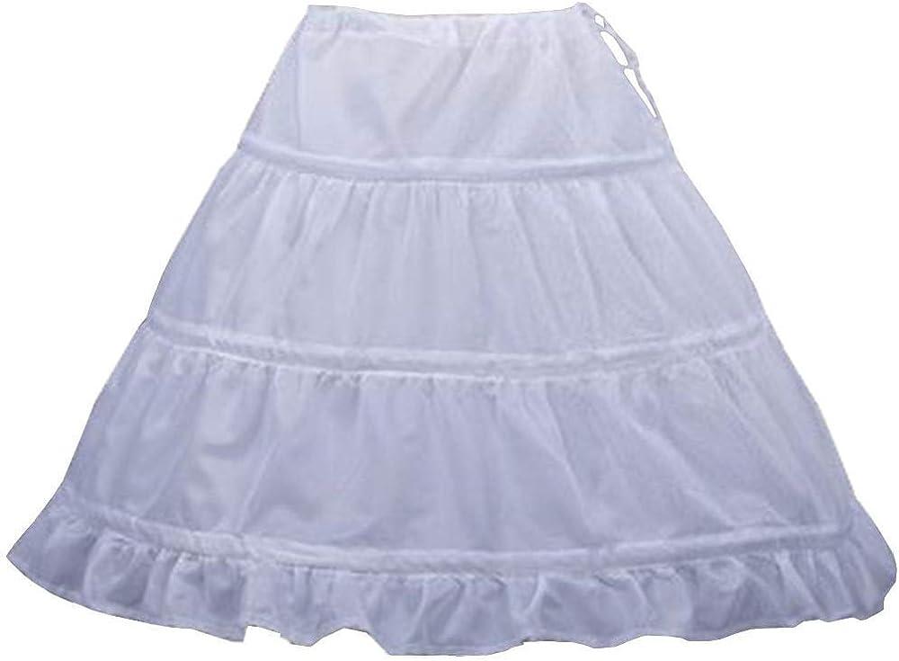 MuchXi Flower Girl Girls' 3 Hoops Petticoat Puffy Full Slip Kids Crinoline Swing Skirt
