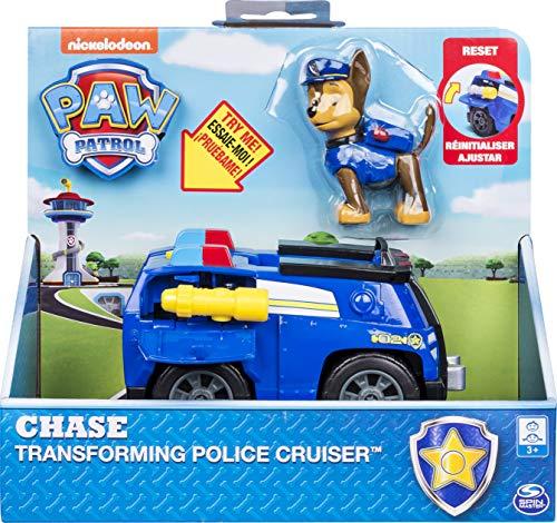 PAW Patrol Chase's Transforming Police Cruiser con Megafono Flip-Open, per bambini dai 3 anni in su.