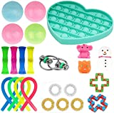 M-anxiu Fidget Toys Set, Fidgety Fingers Pack 25PCS, Sensory Relieves Autism Stress Anxiety Squeeze Toy for Kids Teens Adults, Fidget Box Sensory Therapy Children Fidget Toys