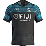 Maillot De Rugby pour Homme/Maillot De Rugby Fidji 2020 Maillot De Rugby Fidji Maillot De Rugby à VII Maillot De Rugby Invité Principal Sportswear Gym Gilet Confortable T-Shirt (S-5XL)-B-XL