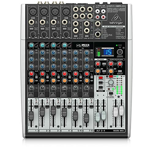 Behringer Xenyx X1204USB Premium 12-Input 2/2-Bus Mixer with USB/Audio Interface,Black. Buy it now for 229.99