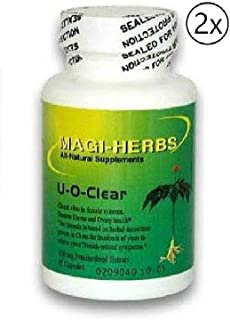 U-O-Clear Assure Ovary & Uterus Health 500 mg (2 Bottle) 60 Capsules Relieves Symptoms Caused by Clots or Abnormal growths