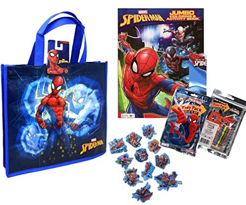 Spiderman Activity Tote Filled with Coloring Books, Stickers, & Crayons