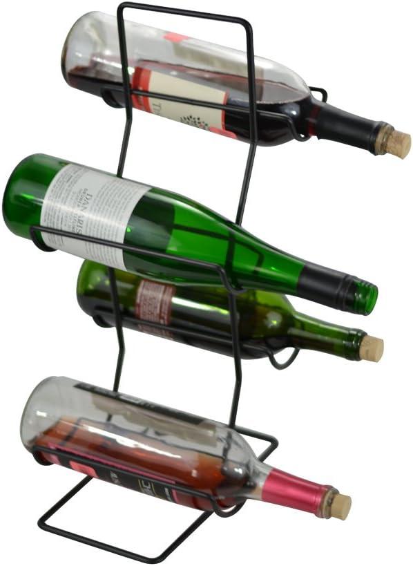 Southern Homewares 4 Denver Mall Bottle Wine Counter Tree Freestanding Rack Bargain