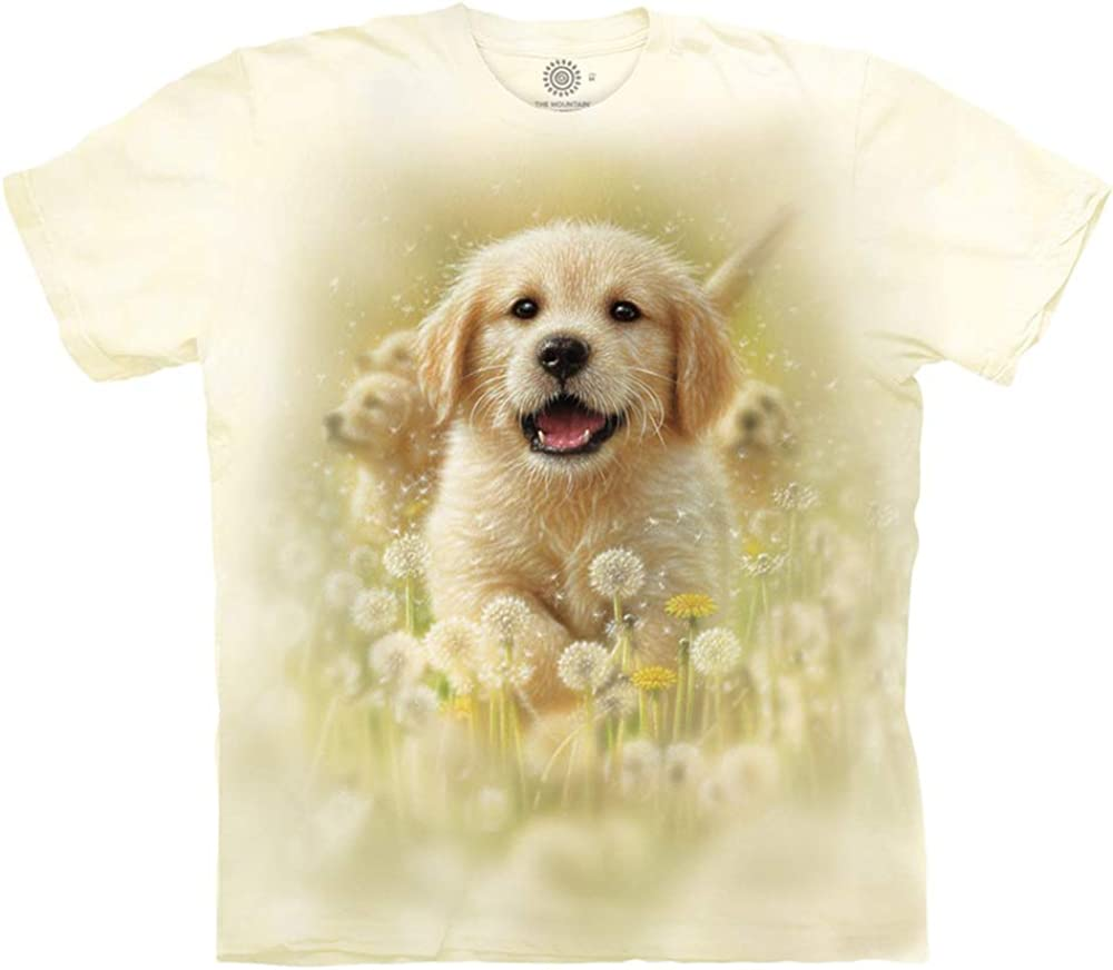 The Mountain Men's Golden Free Shipping Cheap Bargain Gift Tee low-pricing Puppy