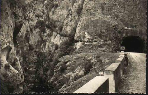 Postal Antigua - Old Postcard : CASTEJON DE SOS - Entrada Congosto Seira al Valle de Castejon de Sos