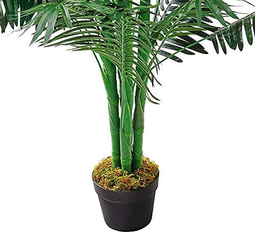 Árboles de palma areca artificiales planta tropical macetas de jardín interior y exterior ornamental plantas 130cm,Green