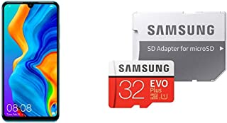 HUAWEI P30 Lite ピーコックブルー SIMフリースマートフォン&Samsung microSDカード32GB セット