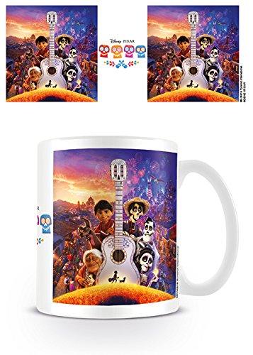 Pyramid Coco Guitar Coffee Mug Taza, Porcelana, multicolor