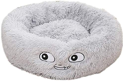 HCMNME Deluxe Soft Cat Bed, Cat Bedding Plush Donut Pet Bed Dog Cat Round Warm Cuddler Kennel Soft Puppy Sofa Cat Cushion Bed Sleeping Bag Orthopedic,for Cats and Dogs