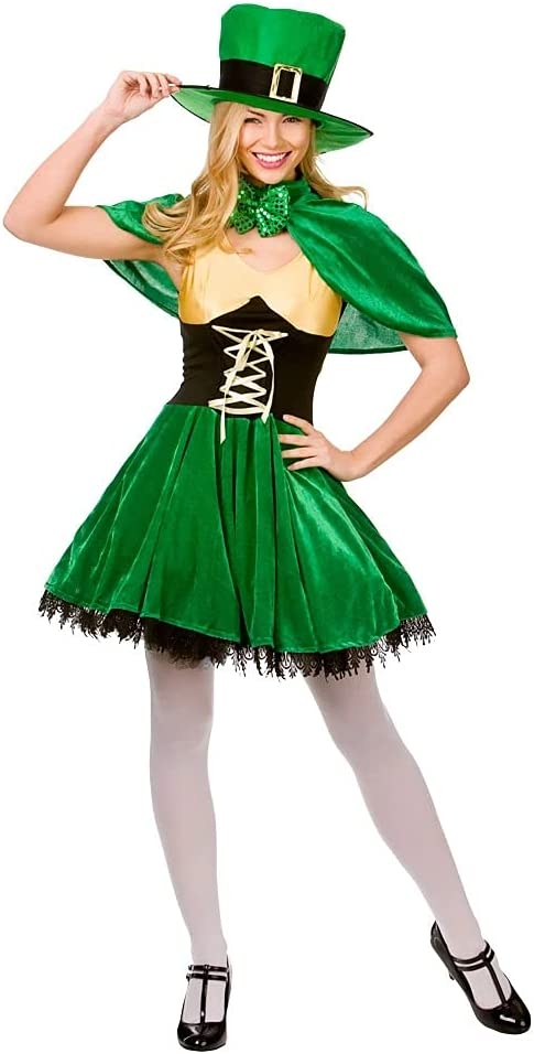 Adult LUCKY LEPRECHAUN Mens National Fancy Dress Costume Stag Party Lucky Irish