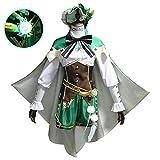 OSIAS Genshin Impact Entonces Personajes Anime Vestido Cosplay Disfraz Venti (M)