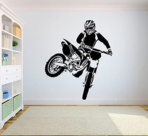 Adesivi murali fuoristrada moto fuoristrada adesivi camera da letto sport fuoristrada moto...