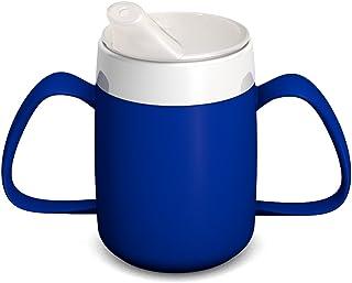 Ornamin 2-Henkel-Becher mit Trink-Trick 140 ml blau mit Schnabelaufsatz (Modell 815 + 806) / Spezial-Trinkhilfe, Tremor-Be...