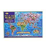 Map of The World Puzzle, The Great Gift for Girls and Boys,...
