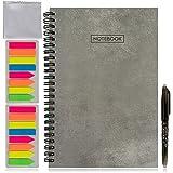 Cuaderno inteligente reutilizable. Cuaderno digital inteligente con bolígrafo borrable, 2 set de marcadores y paño de microfibra. Libreta inteligente. Agenda electrónica de bolsillo tamaño A5.