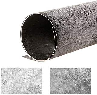 Selens 2 in 1 Fotohintergrund, 56 x 90 cm, Retro Holz Hintergrund, Marmor, Fotohintergrund für Foto Requisiten, doppelseitiges Muster
