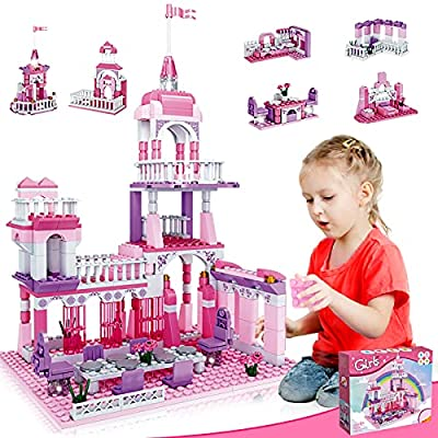 HOMOFY Building Blocks Toys for Girls Age 8-12 Princess Castle Sets for Girls Age 6-12 Construction Building Bricks Girls Toys Ages 9-12 STEM Blocks for Kids Age 6 7 12-15 Girls Birthday Gifts 278pcs from HOMOFY