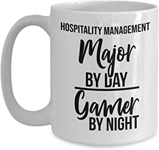 Hospitality Management Major By Day Gamer By Night - 11 oz Coffee Mug - Unique College Student Gamers Gift