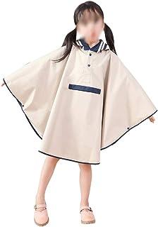 WZHZJ Kids Raincoats for Girls for Waterproof Windproof Rainwear Hat Eaves Design Breathable Comfortable Poncho Raincoat (...