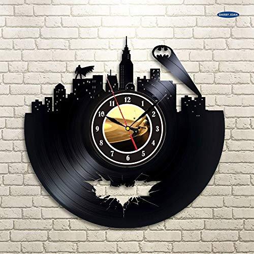 Coloré saat Batman Arkham City Logo Meilleure Horloge Murale - reloj Décorez Votre Maison avec RN Grand Superhero12 Pouces