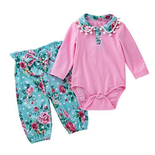 Ensemble de Pyjama Bébé Fille Vêtements de Nuit Enfants Garçon Barboteuse Imprimé Fleur Animaux Hiver 2PC Ensembles Pantalons Combinaison Tops Romper Sleepsuit Cosplay Pas Chère (0-3 Mois)