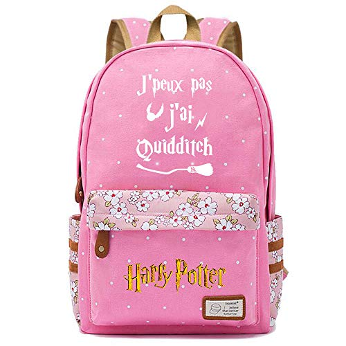 NYLY Zainetto a fiori per ragazze Daypacks casuali di Fashion Street/Shopping/Travel, Zaino serie Harry Potter (stile J) L Rosa