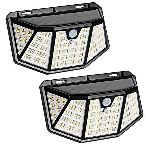 ソーラーライト 高輝度屋外 LEDソーラーモーション センサーセキュリティライト 省エネ IP65防水 (black)
