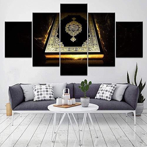 Póster de arte de pared de impresión moderna, cuadro de lienzo modular, 5 pintura de la Biblia antigua, decoración, marco de sala de estar
