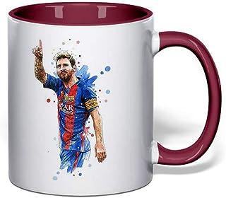Coffee Mug Leonel Messi/Barcelona art - Maroon