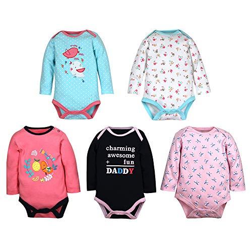 ZEVONDA Body para Bebés Niños y Niñas de 100% Algodón - Manga Corta/Manga Larga/Mameluco Pijamas...