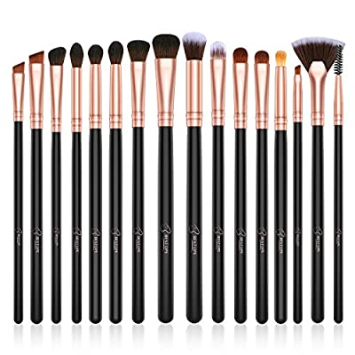 BESTOPE Eye Makeup Brushes, 16 Pcs Professional Eye Brush Set Eyeshadow, Eyebrow, Blending, Fan, Eyelash, Make Up Brushes with Premium Wooden Handles & Soft Synthetic Hairs