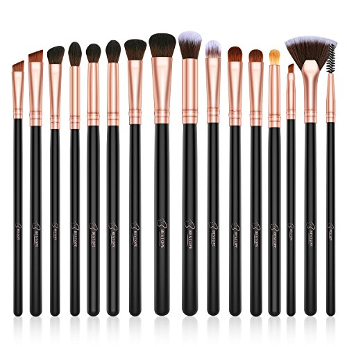 BESTOPE Eye Makeup Brushes 16 Pcs Professional Eye Brush Set Eyeshadow Eyebrow Blending Fan Eyelash Make Up Brushes with Premium Wooden Handles amp Soft Synthetic Hairs