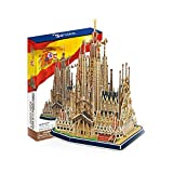 Rompecabezas 3D Modelo de Papel de construcción España Sagrada Familia Iglesia DIY niños Regalo Creativo Juguetes educativos