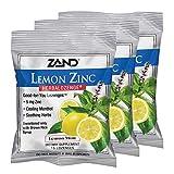 Zand HerbaLozenge Lemon Zinc   Throat Lozenges   No Corn Syrup, No Cane Sugar, No Colors   15 Lozenge, 3 Bags