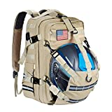 Goldfire Waterproof Tactical Backpack for Men Women, 20L Expandable Helmet Holder/Cycling Backpack/Hiking Helmetcatch Bag/Backpack with USB Port Military Molle Systerm (20L)