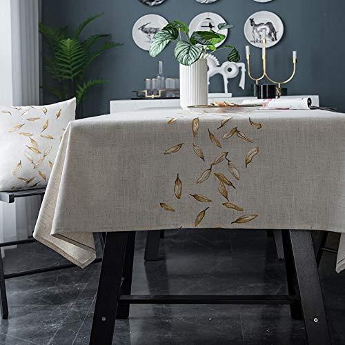 CYYyang Cotone e Lino con Frange Tavolo Copritavolo Copertura Lavabile in Polvere Ricamo Americano Impermeabile Piccolo Fresco